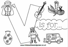 Color pictures, email pictures, and more with these alphabet coloring pages. Letter V Colouring Sheets Kids Puzzles And Games