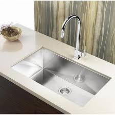 36 Inch Stainless Steel Undermount Single Bowl Kitchen Sink Zero