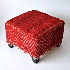 oriental rug covered ottoman