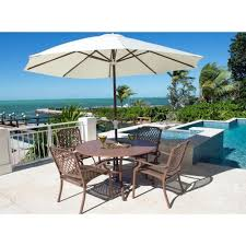 image alt text panama jack island breeze 42 round dining set in espresso