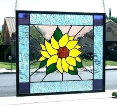 stained glass sheets for large stained glass panels summer sunflower contemporary window panel bright and stained glass sheets