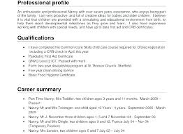 Sample Resume With Profile Professional Profile Resume Examples ...
