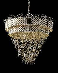 modern contemporary gold plated metal chandelier