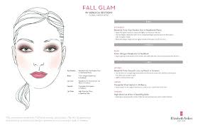 Elizabeth Ardens Fall Glam Face Chart Make Up And Hair