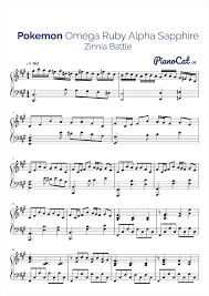 pokemon sheet music piano pokemon piano battle zinnia video game sheet music