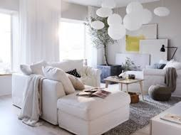 white sitting room furniture. Step Into Living Room Turned Haven Made Just For You With A White GRÖNLID  Sofa And Sitting Furniture H
