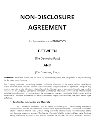 Free Nda Template Free Non Disclosure Agreement Template Templates Samples