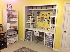 diy closet office. How To Turn A Closet Into An Office | Ideas For Bryan\u0027s Pinterest  Rolling File Cabinet, Counter Top And Drawers Diy Closet Office