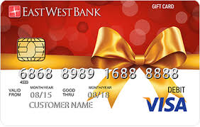 Assuming it's all done in the same currency and region. Purchase An East West Gift Card At Your Nearest Bank Branch East West Bank