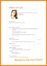 Curriculum Vitae Examples Simple Curriculum Vitae In English Examplescurriculum Vitae Examples