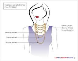 Choker Length Chart Necklace Length Chart Printable Allfreejewelrymaking Com