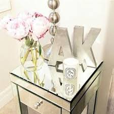 ideas bedside tables pinterest night: couples initial for night stand decor idea