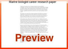 Marine Biologist Career Research Paper Coursework Academic Service