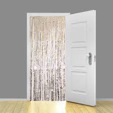 Holographic <b>Silver</b> Metallic Shimmer Curtain 95cm x <b>200cm</b> ...