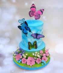 Miss Ellies Butterfly Birthday Cake Cake By Karen Geraghty