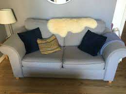 silver grey dfs 2 seater sofa bed 1