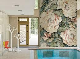 Carta Da Parati Nel Bagno : Carta da parati con motivi floreali per bagno jacquarad wall amp decò