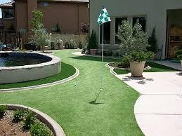 fake grass summerland california diy putting green backyard landscaping