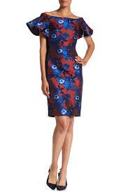Alton Gray Size Chart Off The Shoulder Floral Print Dress