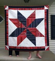 41 best oversized blocks images on Pinterest | Bedroom, Carpets ... & What a bold looking quilt. I love the color choices the quilter used. I  think the corner half square triangles really set this quilt off. Adamdwight.com