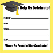 Latest Free Graduation Party Invitation Templates For Word With 40