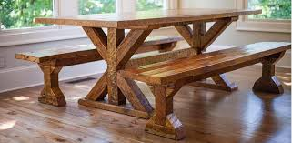Sawdust furniture Mouldy Trestle Table Schulweg Reclaimed Wood Farm Table Woodworking Athens Atlanta Ga