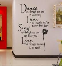 dance as though no one is watching removable vinyl wall art words stickers diy 3d house decoration decals quotes in wall stickers from home garden on  on wall art writing decor with dance as though no one is watching removable vinyl wall art words