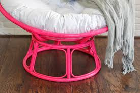 Light Pink Papasan Chair So Fancy Before After Papasan Chair Papasan Chair