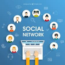 Social Network Concept Vector Premium Download