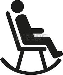 rocking chair clipart. Man In Rocking Chair Pictogram Illustration Clipart K