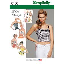 Crop Top Sewing Pattern Awesome Misses 48s Vintage Crop Tops And Bustiers Simplicity Sewing Patte
