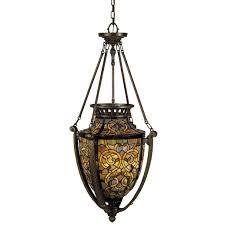 quoizel tf1721ml malaga tiffany 4 light urn pendant with tiffany stained glass lightingshowplace com