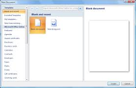 Templates In Word 2007 File New Variations In The Versions Of Microsoft Word