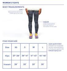 Tights Size Chart Womens Tights Size Chart Janji