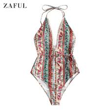Zaful Swimwear Size Chart Paisley Elephant Swimsuit