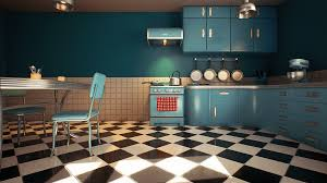 Retro Kitchen Customizable Retro Kitchen By Nguyen Cong Thai In Environments
