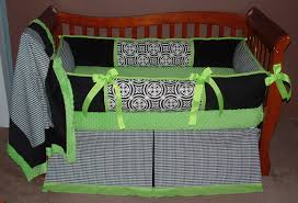 minton black lime crib bedding