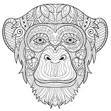 Small Picture Get This Monkey Coloring Pages for Adults 31902