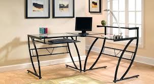 l shaped computer desk glass z line glass l shaped computer desk mezza l shaped glass