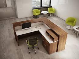 interesting office lobby furniture.  Furniture Lshapereceptiondesk With Interesting Office Lobby Furniture
