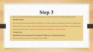 ask and answer essay writing process introductions ppt  5 step