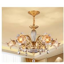 copper crystal chandelier in the living room dining room bedroom penth