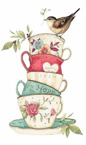vintage tea cups drawing. Contemporary Cups Love Tea Cup Art Coffee Printable Printable Vintage Drawing  Teapots With Vintage Cups Drawing W