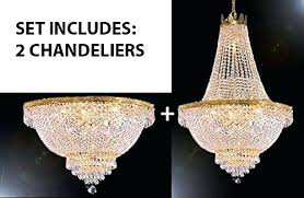 set of 2 nch empire crystal chandelier lighting x gallery chandeliers french for fr