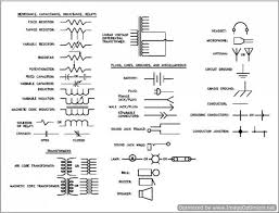 Electrical Symbols Chart Schematic Diagrams Circuits Symbols Wiring Diagram Images