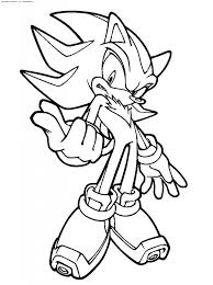 Shadow The Hedgehog Coloring Pages To Print Www