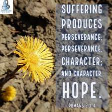4 let perseverance finish its work so that you may be mature and complete, not lacking anything. Suffering Produces Perseverance Perseverance Character And Character Hope Romans 5 3 4 Bible Biblical Verses Romans 5 Verses