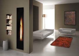 gas fireplace insert remote controlled mirror flame
