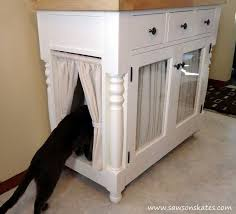 cat litter box covers furniture. diy kitty litter cabinet hides ugly box kitchen cabinets design painted cat covers furniture