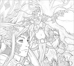 Free coloring pages for all ages: Fantasy Adult Coloring Pages Coloring Home